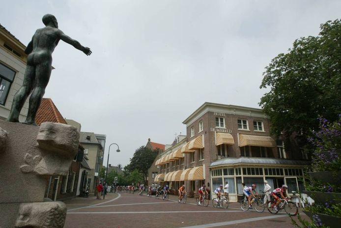 Hotel de Wereld op het 5 Mei Plein in Wageningen. foto Cord Otting