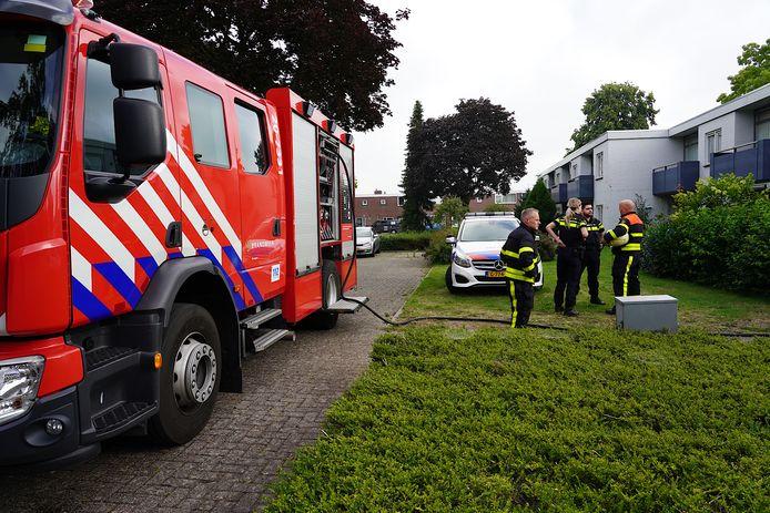 De brandweer was snel ter plaatse bij de brand in Dongen.