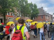 Drukke coronademonstratie in Arnhem