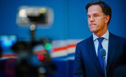 Demissionair premier Mark Rutte s