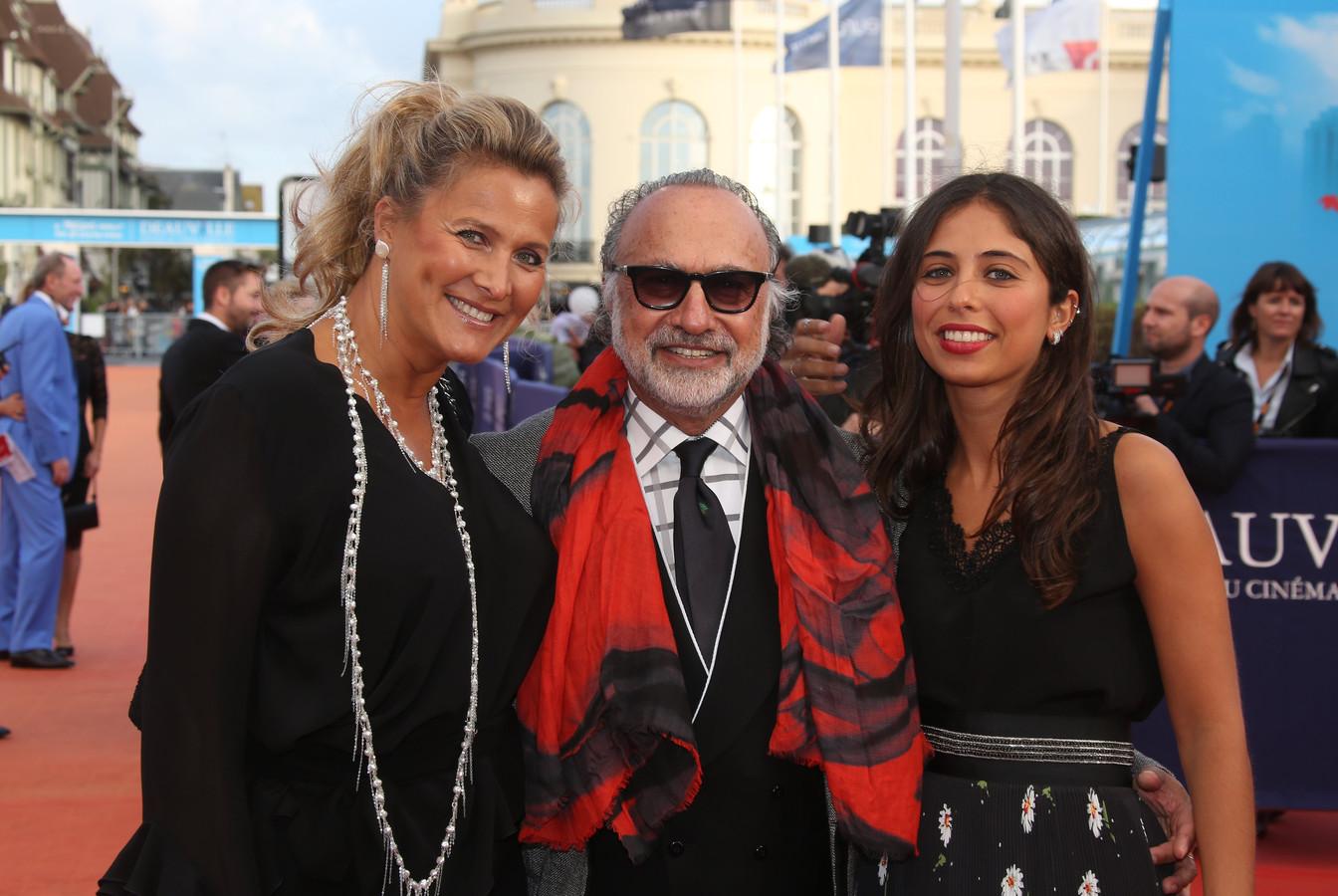 Met vrouw Natacha en dochter Helena op de rode loper tijdens een filmfestival.