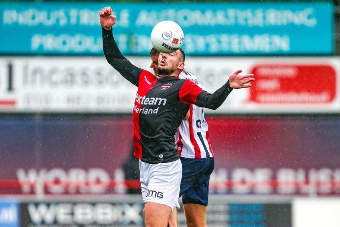 De Treffers-spits Coen Maertzdorf beleeft bij Excelsior Maassluis een bijzondere middag.