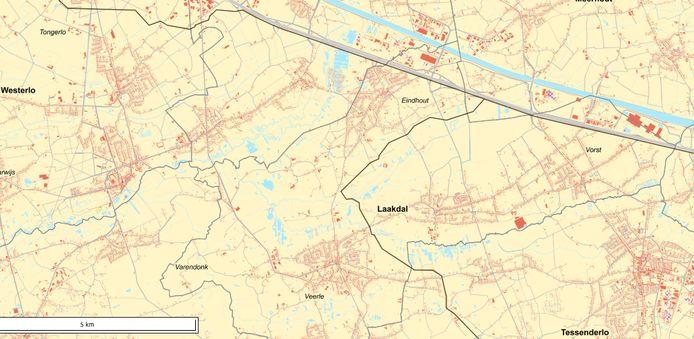 In Laakdal loopt één van de tracés langs Veerle en Eindhout, een andere ten zuiden van de E313. Ter hoogte van Vogelspoel in Meerhout komen ze samen, waarna ze langs de E313 in de richting van Geel één tracé vormen.