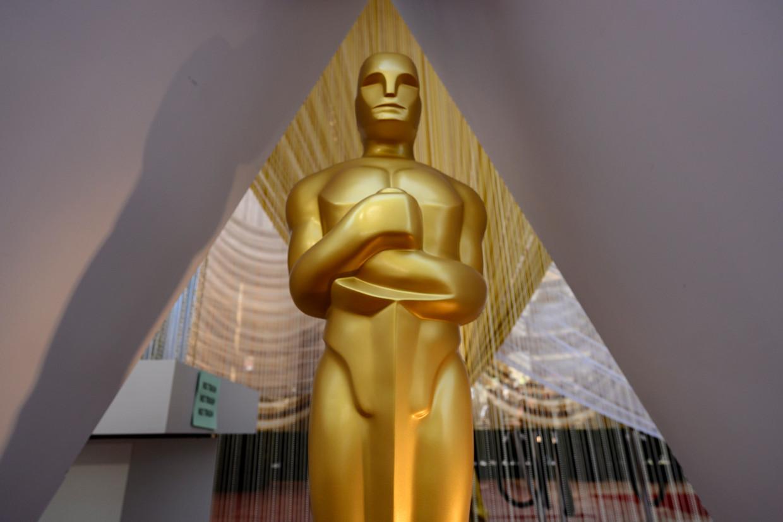 In het Dolby Theatre in Hollywood, California staat alles klaar voor de uitreiking van komende nacht (onze tijd).  Beeld AFP