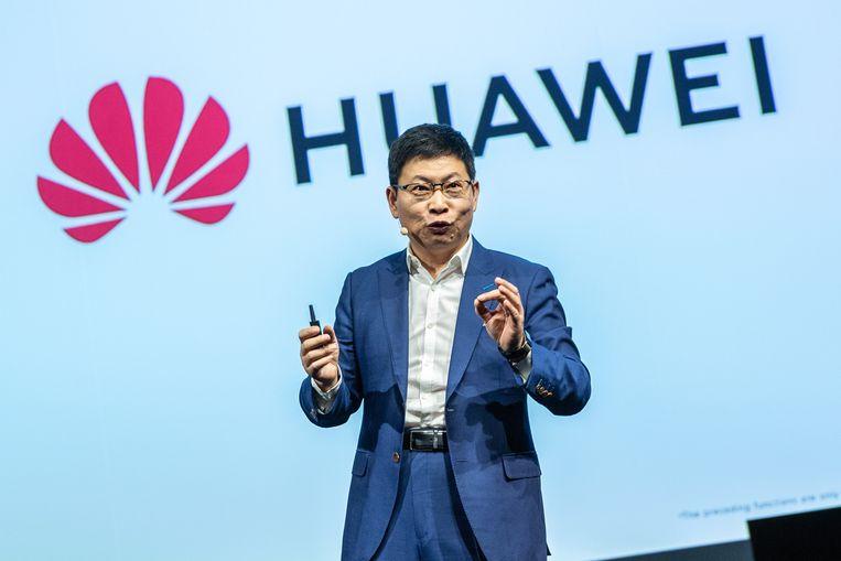 Oprichter van Huawei Ren Zhengfei, vader van Meng. Beeld EPA