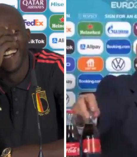 """Roberto Martinez et Romelu Lukaku réagissent à leur façon au """"Bottlegate"""": """"Les Diables aiment Coca-Cola"""""""