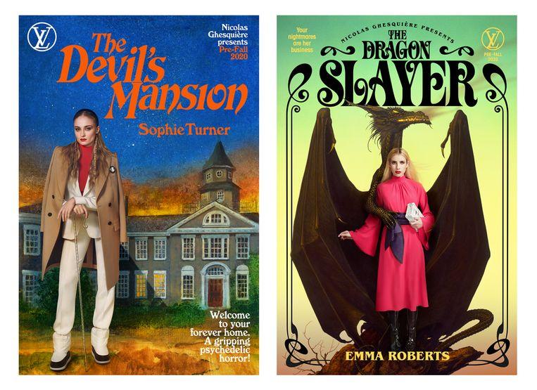 In de filmposters zijn sterren als Sophie Turner en Emma Roberts te zien.