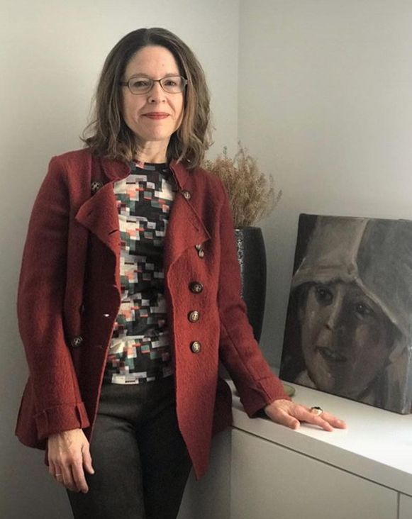 Het schilderij van Els Moerenhout kreeg een plaatsje in het huis van Jennifer Brinton Robcin in het Amerikaanse Philadelphia.