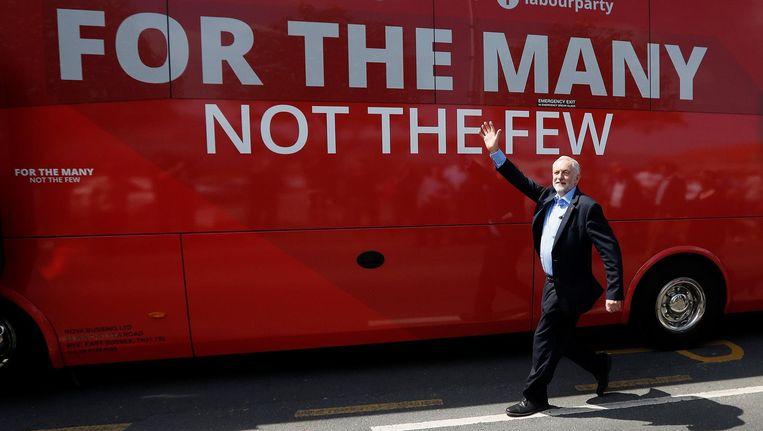 Jeremy Corbyn, leider van de Britse Labour Party. Ook voor zijn partij dreigt flink verlies Beeld reuters