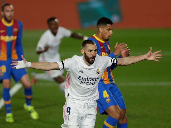 Real Madrid wint zinderende Clásico tegen Barcelona en wordt leider in La Liga