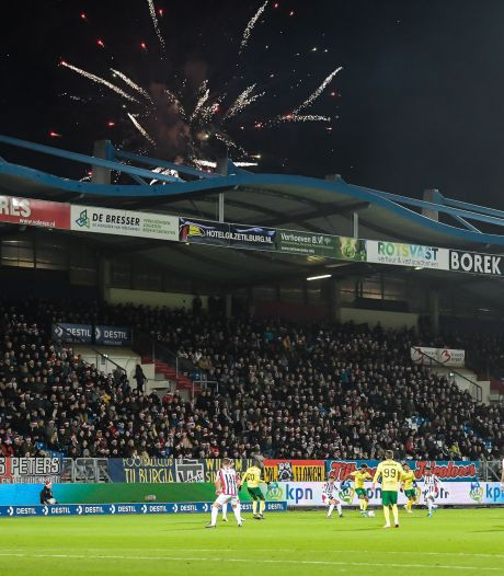 Spandoeken moeten wijken voor reclameborden bij Willem II; fans zijn boos