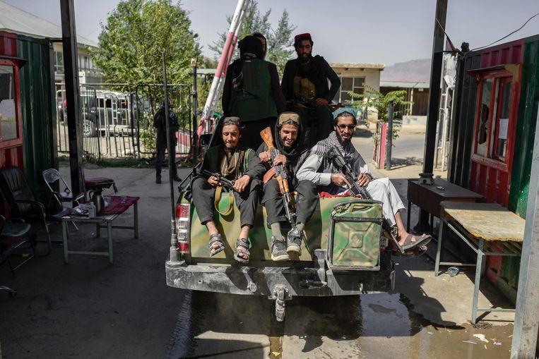 Taliban-strijders in Kaboel. Beeld AFP