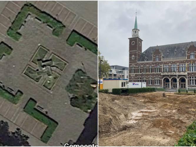 """Beruchte 'swastikafontein' aan gemeentehuis verdwijnt: """"In de plaats komt een waterpartij waar kinderen zullen kunnen spelen"""""""