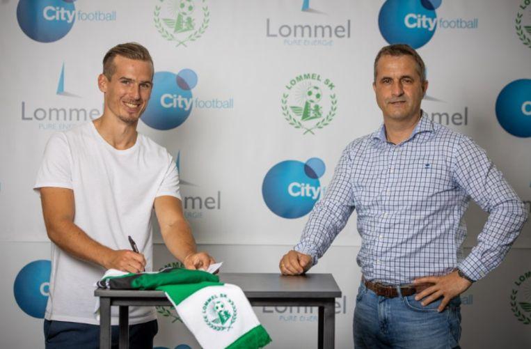 Stijn Wuytens tekent voor vijf jaar bij Lommel. Beeld Lommel SK