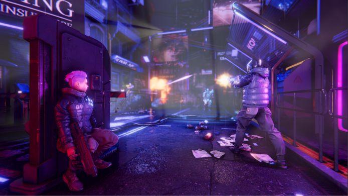 Zo ziet de virtuele wereld eruit waarin de spelers zich bevinden.