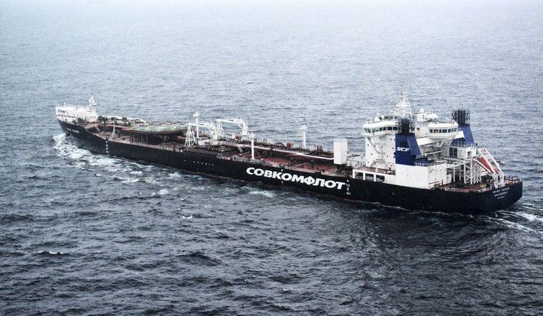De Russische olietanker Beeld ap