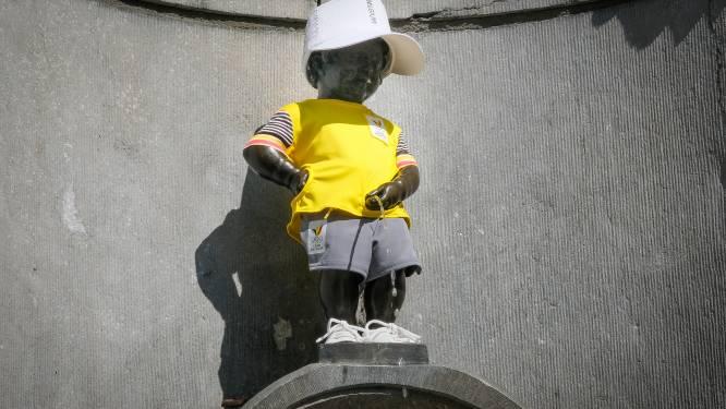 Manneken Pis draagt Team Belgium-outfit