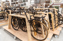 De historische fietsenstalling in het CollectieCentrum Nederland.