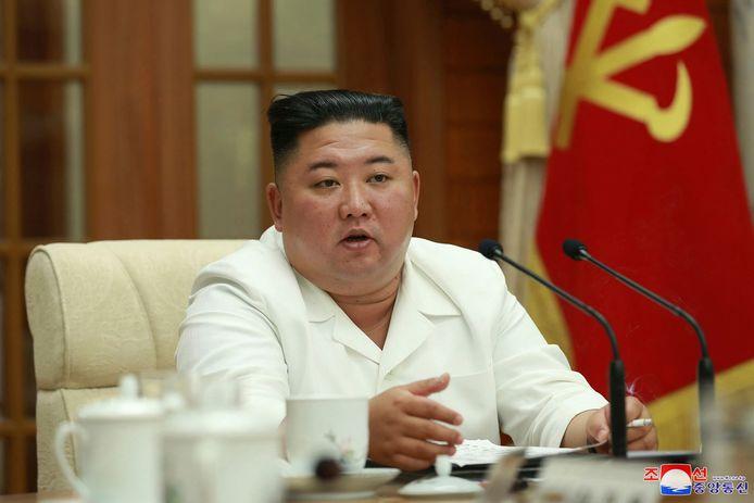 Archieffoto van de Noord-Koreaanse leider Kim Jong-un.
