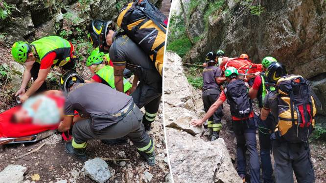 Belgische toeriste maakt zware val in Italiaans gebergte nadat hond aan riem trekt bij steile afdaling