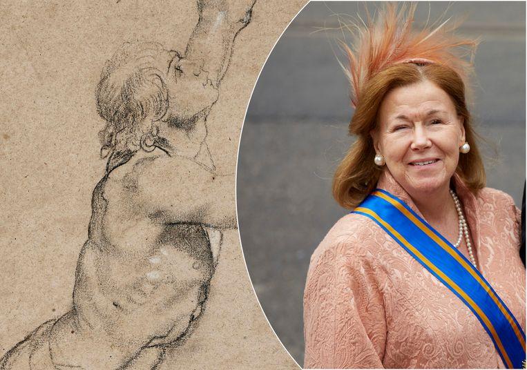 De tekening 'Naaktstudie van een jongeman met opgeheven armen' van Peter Paul Rubens is verkocht. Het was voordien eigendom van de Nederlandse prinses Christina.