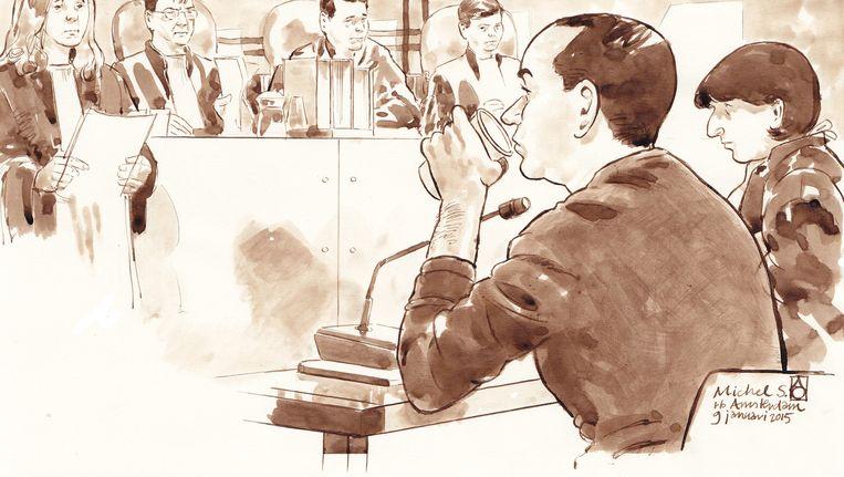 Michiel S. vorige week tijdens de rechtszaak Beeld anp