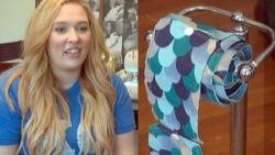 Amerikaanse vrouw maakt en verkoopt herbruikbaar toiletpapier