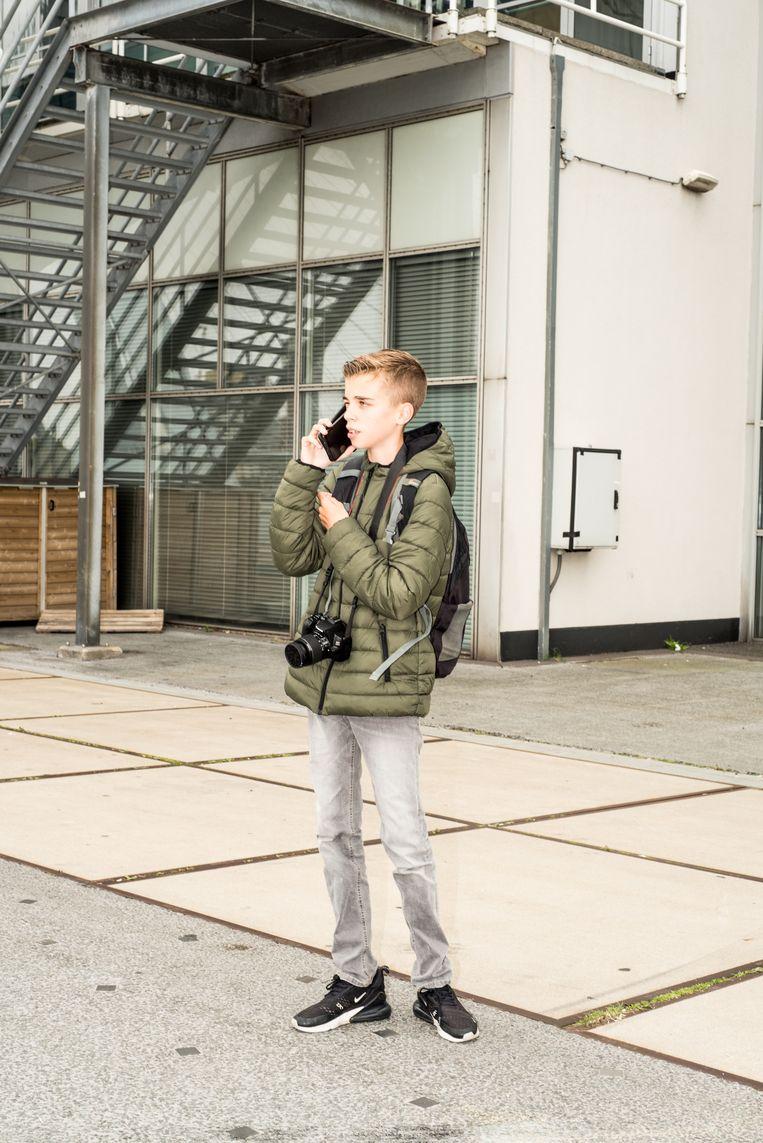 Dinand van Delft: 'De laatste tijd maken spotters ruzie via Instagram. Laatst heb ik zelfs een jongen geholpen die gepest werd' Beeld Jan Mulders