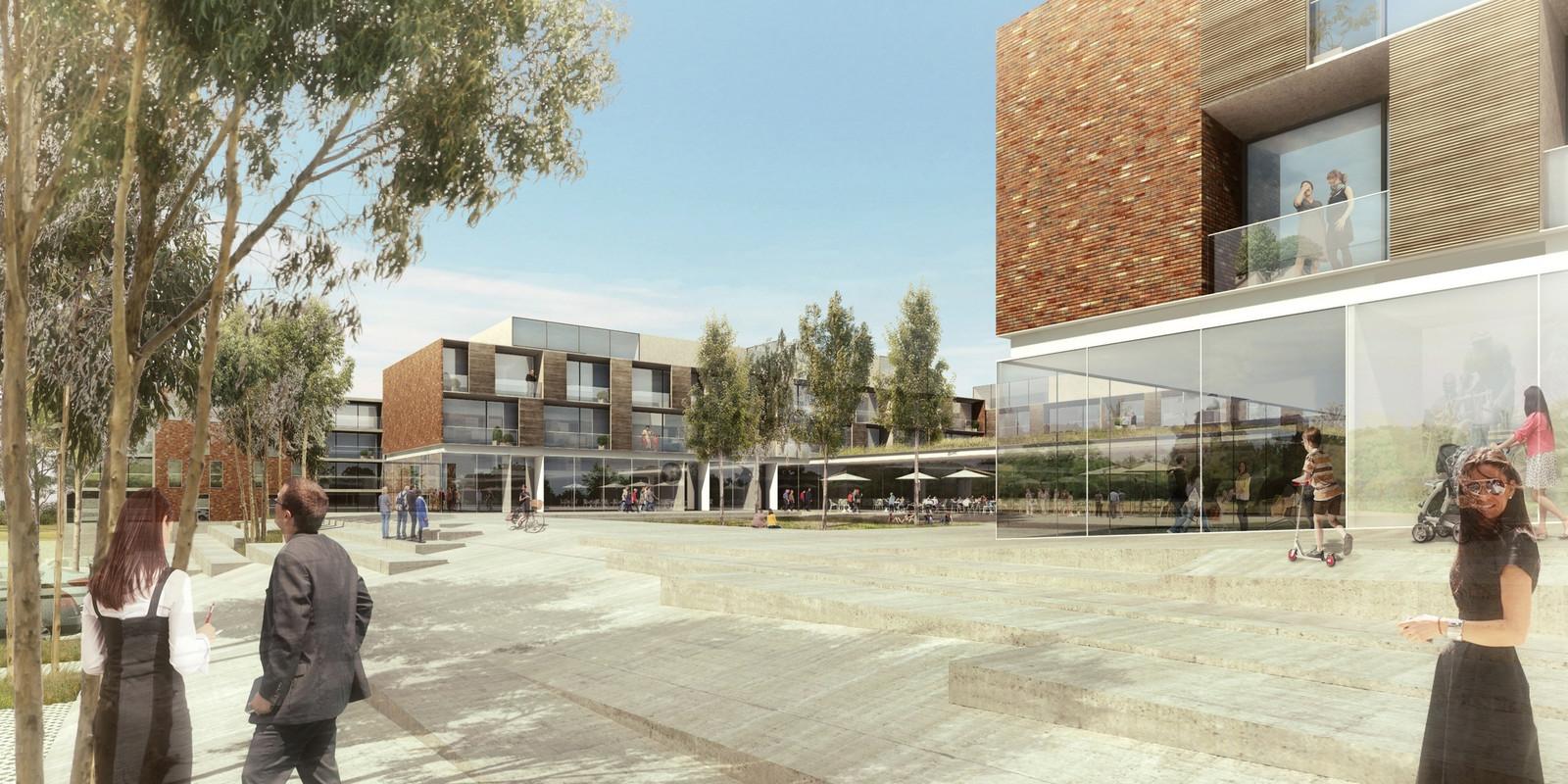 Het woonproject Leanderhof, op de oude Bekaertsite in het centrum van Zwevegem, krijgt een kinderopvang.   Simulatiebeelden van in 2015, hoe het Leanderhof er zal uit zien. Binnenkort komen er nieuwe simulatiebeelden
