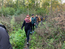 De wandelaars maalden een tocht van 22 kilometer af.