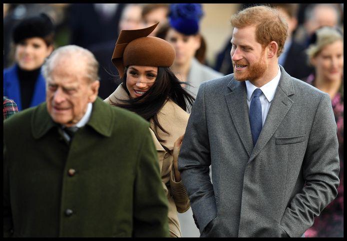 Le prince Philip, Meghan Markle et le prince Harry