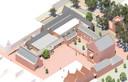 Het nieuwe schoenenmuseum komt links van het Raadshuisplein.