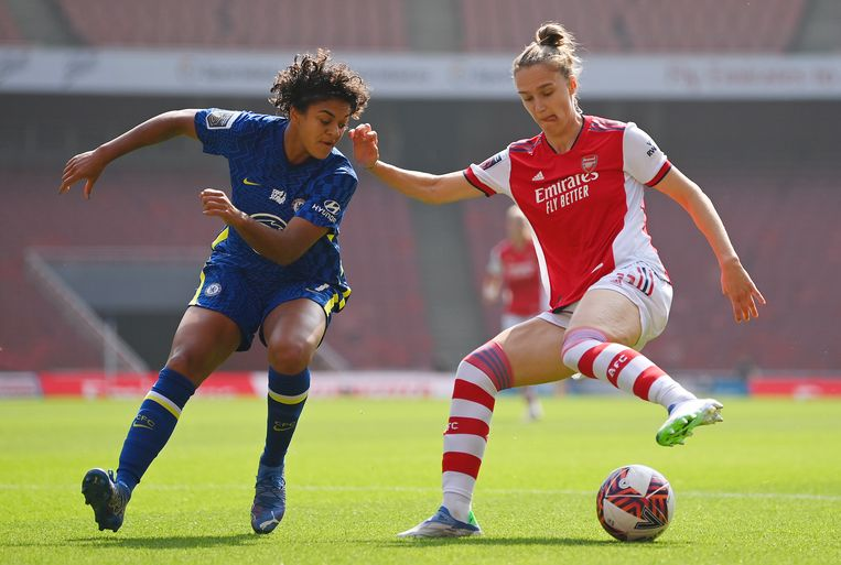 Vivianne Miedema in het shirt van Arsenal  Beeld The FA via Getty Images