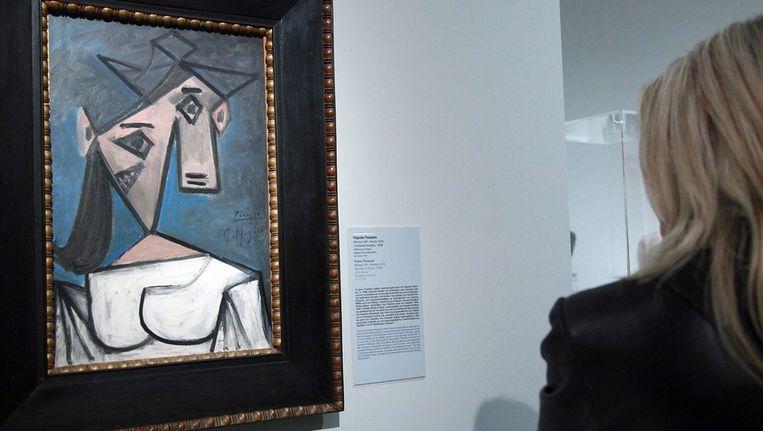 Het werk van Picasso, 'Cabeza de mujer' (hoofd van een vrouw), dat werd gestolen. Beeld epa