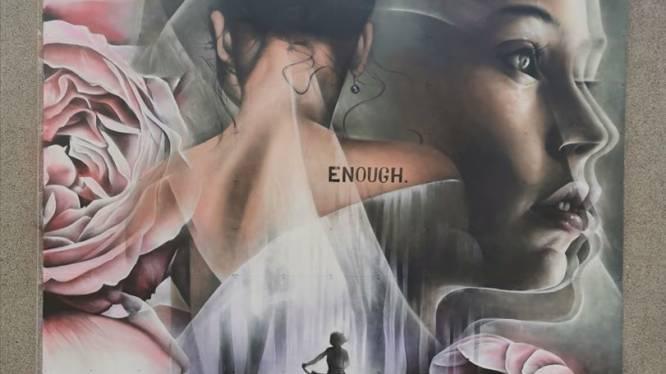 Grafittikunstenares Djoels eert vermoorde Julie Van Espen met kunstwerk van 36 vierkante meter in Antwerpen