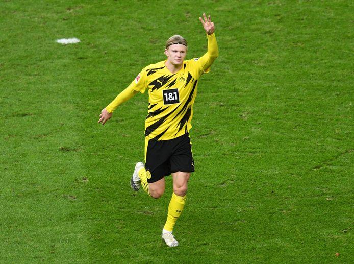 Sacré Golden Boy 2020 ce samedi, Herlin Haaland a célébré ça comme il se doit: avec un triplé sur la pelouse du Hertha Berlin.