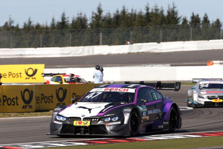 De BMW M4 DTM van de Zweed Joel Eriksson op de Nürburgring.
