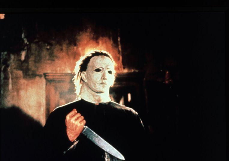 Het iconische masker van Michael Myers was in werkelijkheid een wit gespoten masker van Captain Kirk uit 'Star Trek'. Beeld BELGAIMAGE