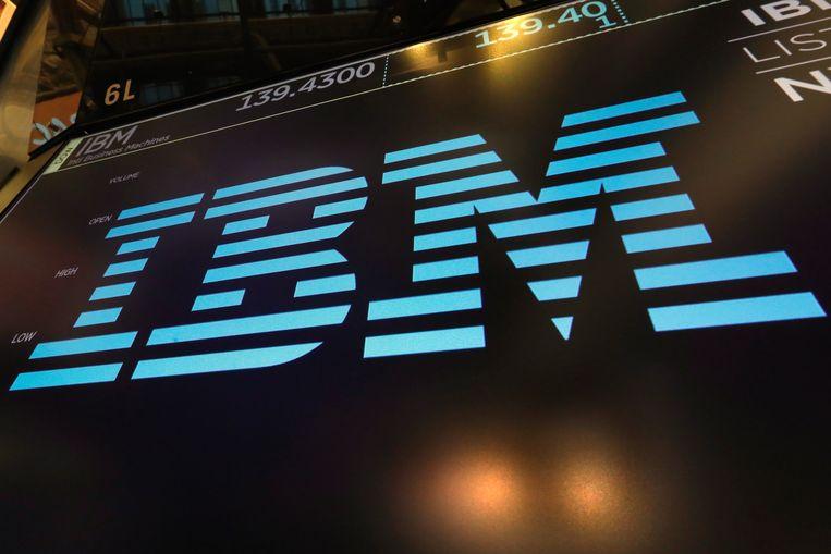 Het logo van IBM.