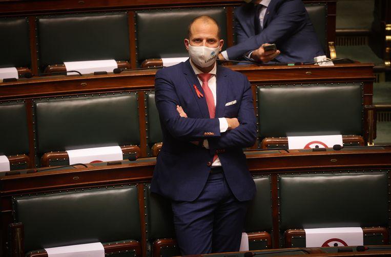 Theo Francken in het parlement (archiefbeeld). Beeld BELGA