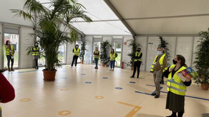 """40 medewerkers testen vaccinatiecentrum Hoge Wal: """"Nu helemaal gebruiksklaar"""""""