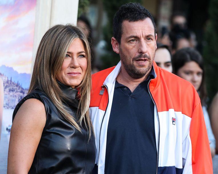 Jennifer Aniston en Adam Sandler bij de première van 'Murder Mystery' op 10 juni in Los Angeles.