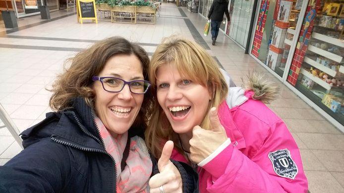 Susanne (links) en Eline.