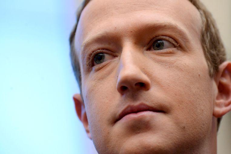 Facebook-baas en oprichter Mark Zuckerberg Beeld REUTERS