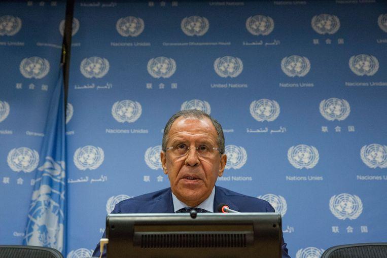 De Russische minister van Buitenlandse Zaken Sergei Lavrov.