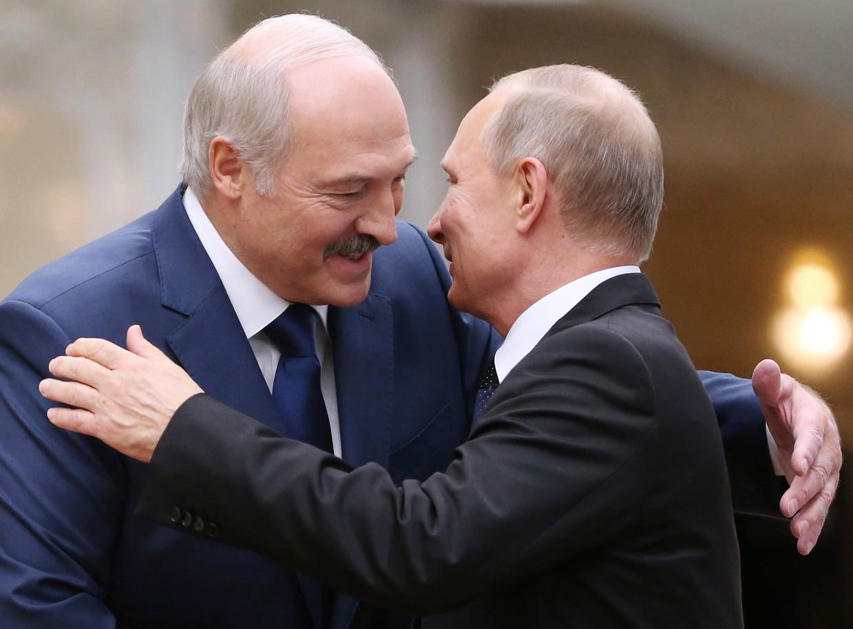 Poetin en Loekasjenko in juni 2020.