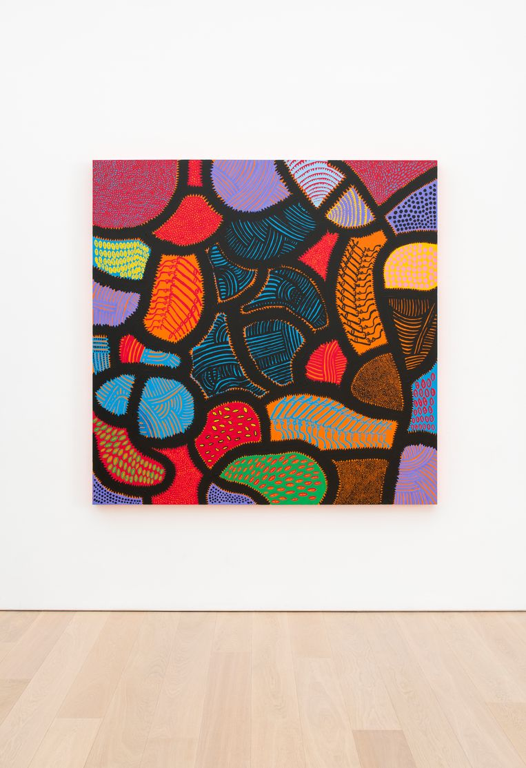 Yayoi Kusama, I am dying now, there the death (2014). Beeld THE EKARD COLLECTION