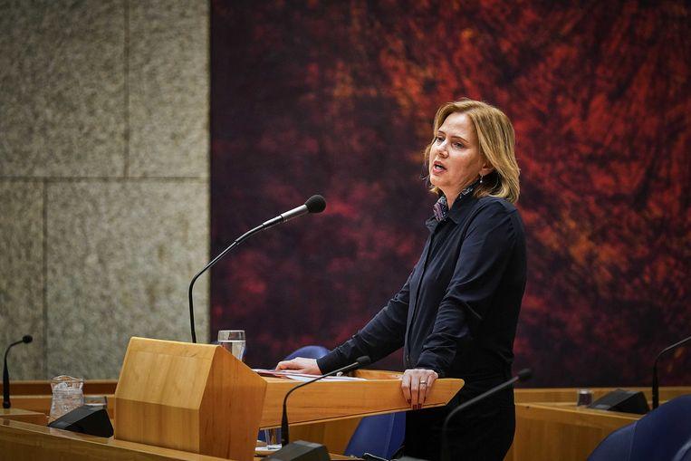 Minister Cora van Nieuwenhuizen tijdens het debat over de stint.  Beeld ANP