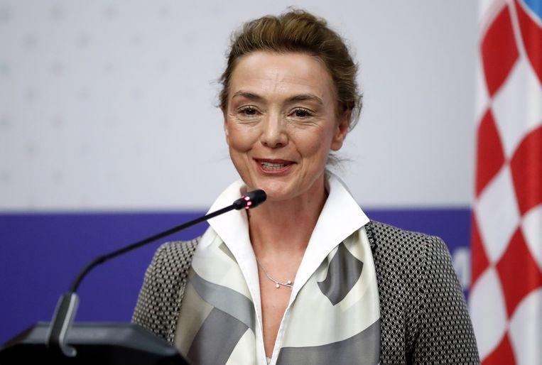 Marija Burić is Reynders' tegenkandidaat. Beeld EPA
