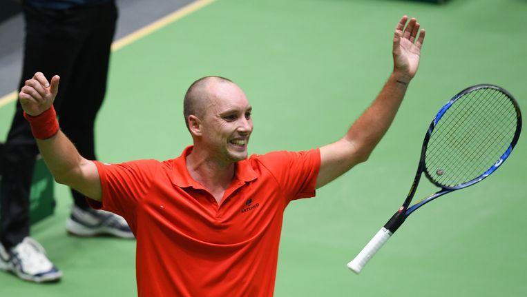 Darcis was ook in de Davis Cup aan het feest.